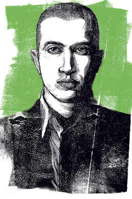 Mosab Hassan Yousef. By Zina Saunders, from The WSJ