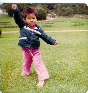 Me striking a pose at 3 years old