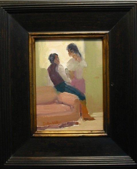 """""""Conversation"""", oil painting, Decker Walker (2010)"""