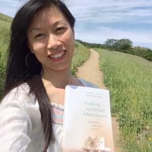 I took my book and drove straight to a fave morning spiritual whitespace, a hiking path where I've cried walking and confiding in a trail of tears and prayers these past two years.