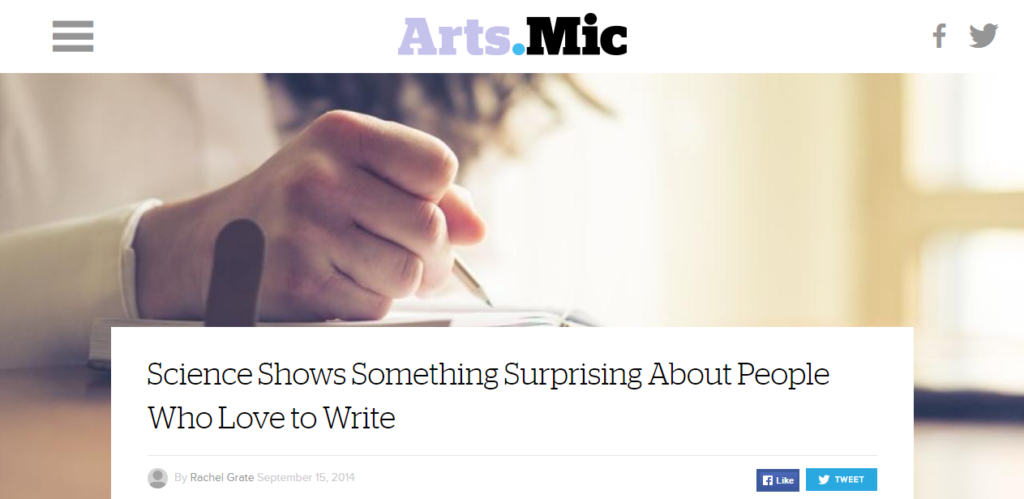 Science Shows Something Surprising About People Who Love to Write   Mic